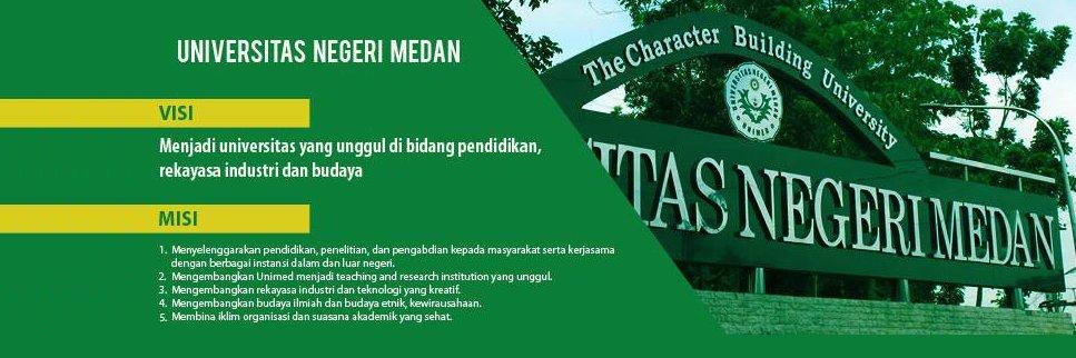 Universitas Negeri Medan's official Twitter account