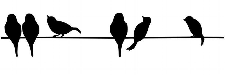 есть картинки для вырезания птички сидят на проводе как