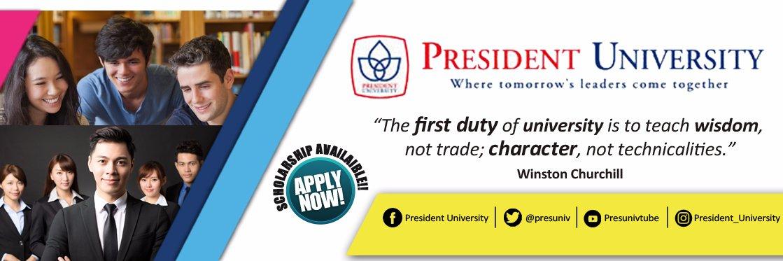 Universitas Presiden's official Twitter account