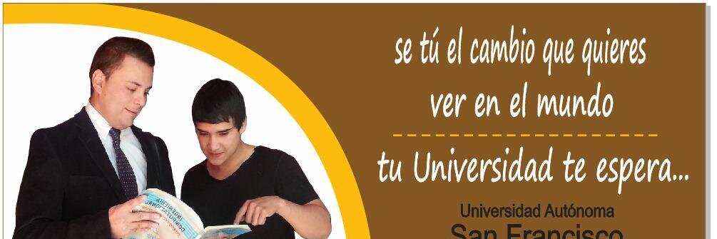Universidad Autónoma San Francisco's official Twitter account