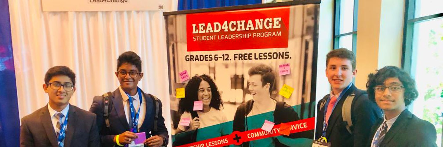 Lead4Change is a free program for 6th-12th grades that transforms students into leaders so they can bring real change to their school or community.