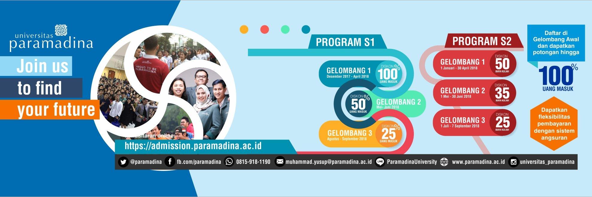 Universitas Paramadina's official Twitter account