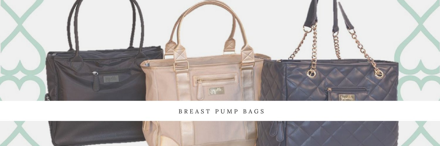 Stylish and practical breast pump bags. #breastfeeding #breastpumpbags #withyoueveryounce