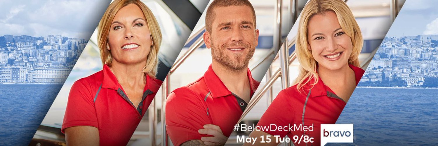 No June Gloom! #BelowDeckMed is back Monday, June 3rd! #FrenchRiviera #Bravo @BravoTV 🇫🇷🍾⛴️⚓️ twitter.com/BravoTV/status…