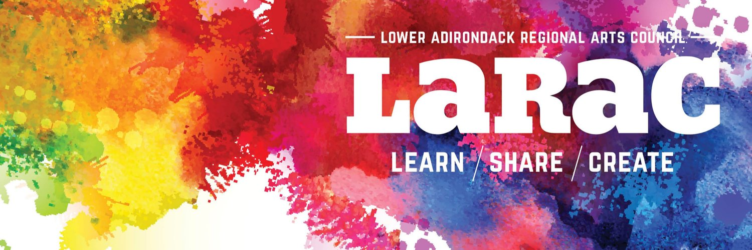 Open Tuesday-Saturday 10am-3pm, the Lower Adirondack Regional Arts Council (LARAC) is a non-profit arts organization promoting art and culture in upstate NY.
