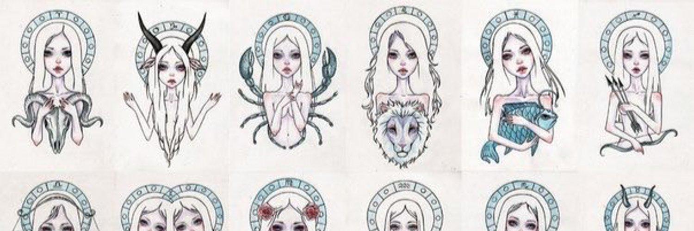 Знаки зодиака рисунки девушки, днем рождения