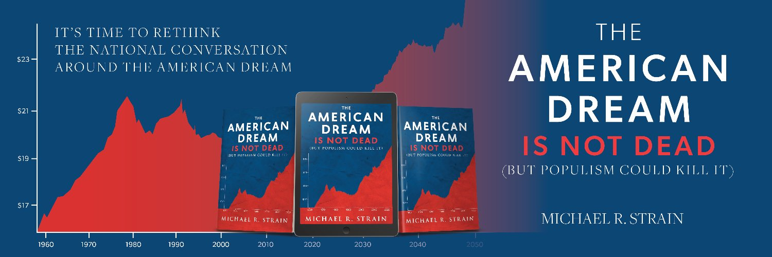 Learn about the long-term economic success story of American workers and households. Capitalism isn't broken! Buy m… https://t.co/rrkKnIJpx8