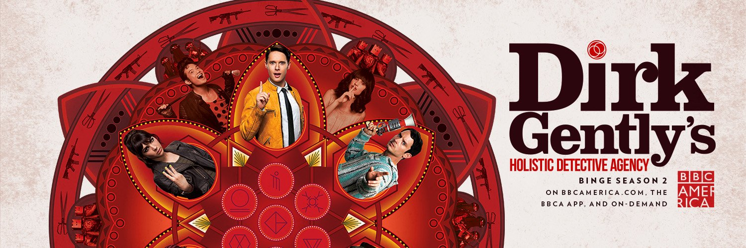 Like a leaf in the stream of creation, every episode of #DirkGentlyBBCA is now streaming only on @Hulu! We really… https://t.co/i4JMkTJoqw