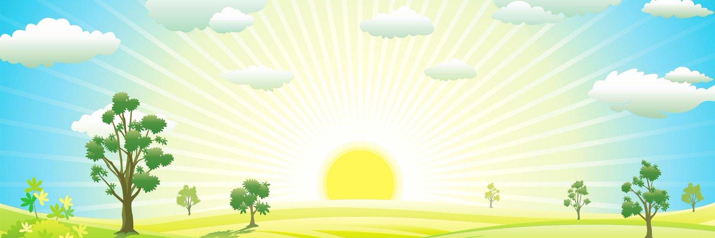 получила рисунок с солнцем и деревьями тебе еще