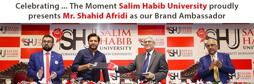 Salim Habib University's official Twitter account