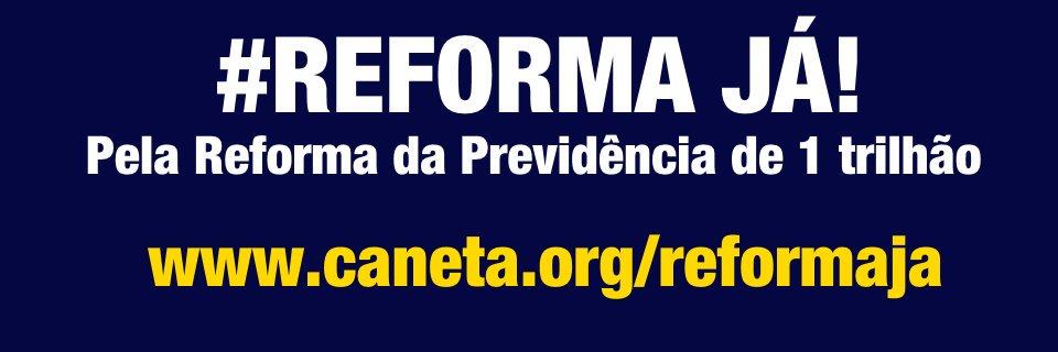 Caneta #ReformaSemPrivilegios