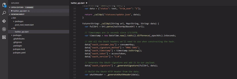 Dart & Flutter for VS Code (@DartCode) on Twitter banner 2016-08-11 06:26:44