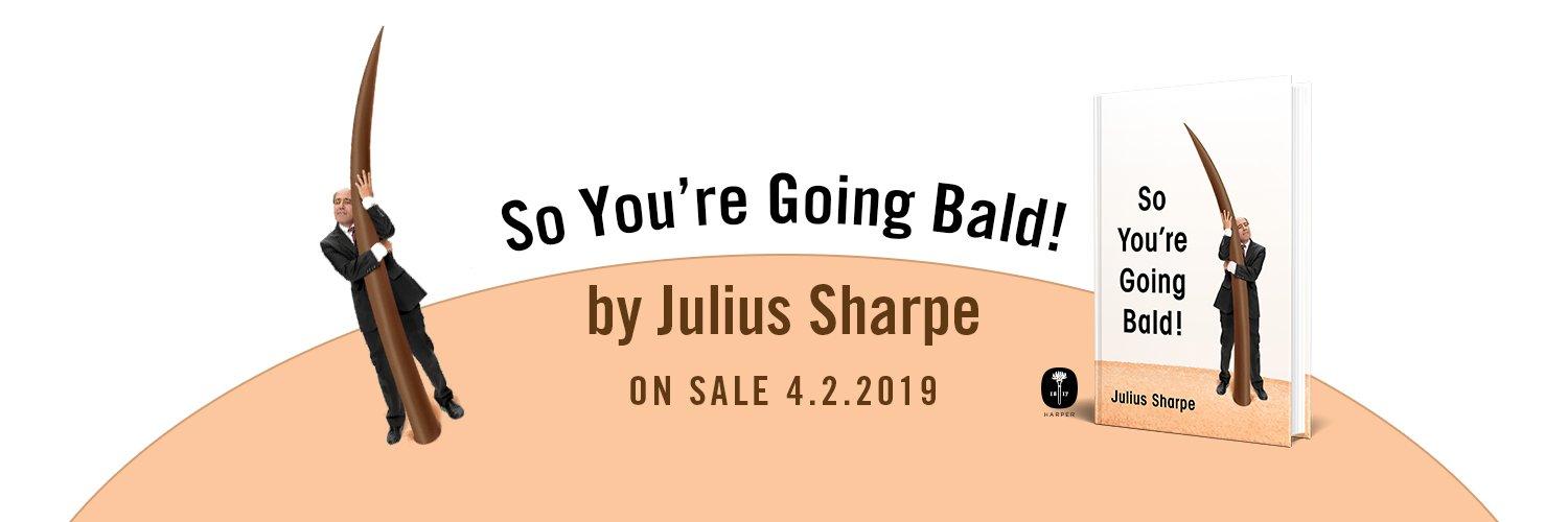 "Prominent figure in the bald community and worst-selling author. Creator, United We Fall on ABC. Buy my book, ""So You're Going Bald!"" at link below."