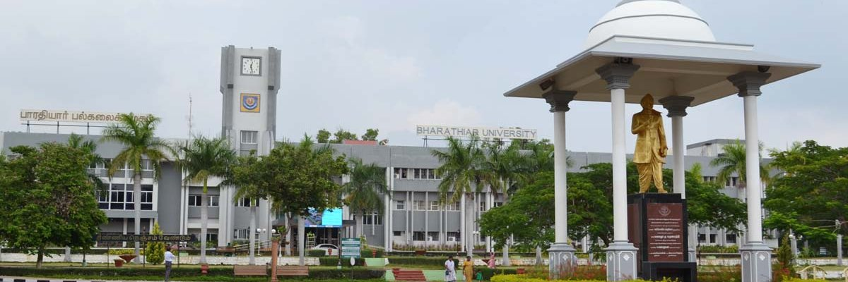 Bharathiar University's official Twitter account