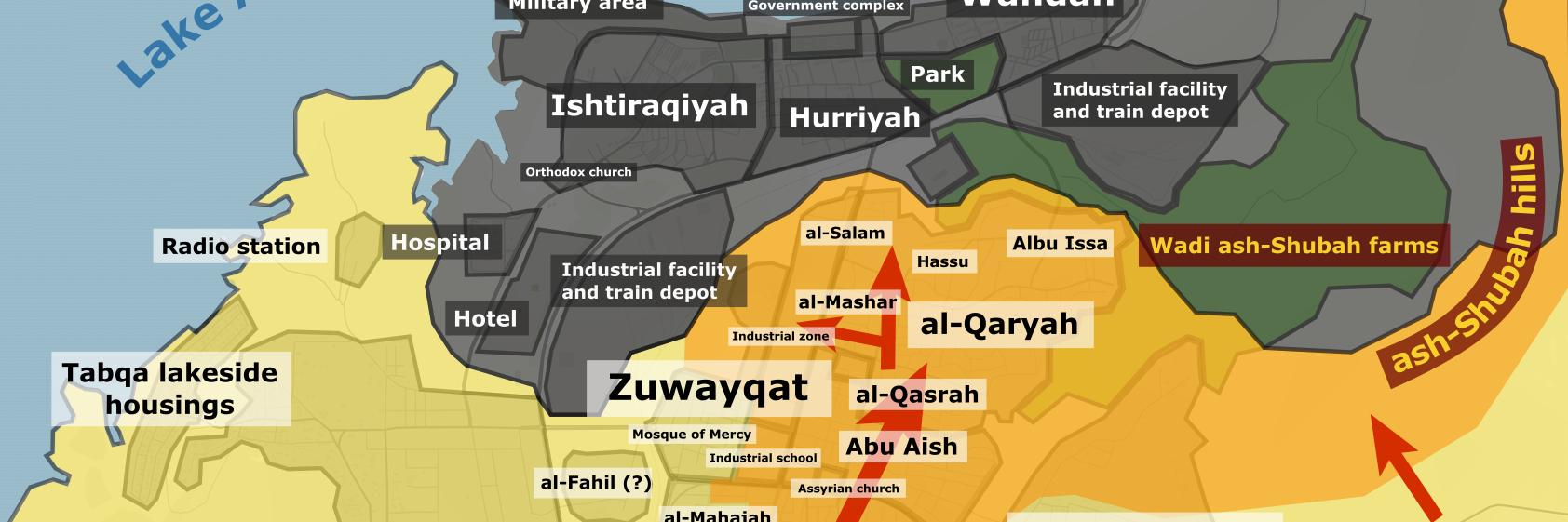 Map of the Front of Ma'arrat an-Nu'man (#MaaratAlNuman) in southeastern #Idlib, #Syria between #SAA/#Assad and #HTS… https://t.co/cIftxzEbKa
