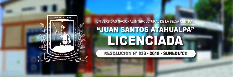 Universidad Nacional Intercultural de la Selva Central's official Twitter account