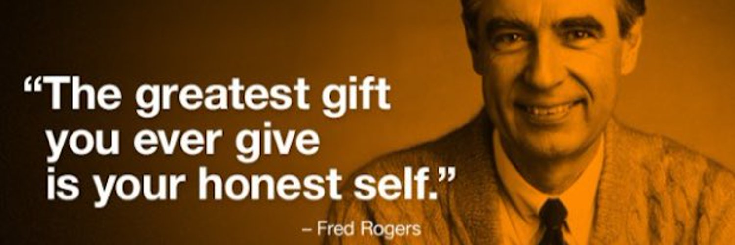 Fred Rogers—mostly just sharing his quotes. I just want to share some of the encouragement he brought to the world.— find the real me at @RickLeeJames