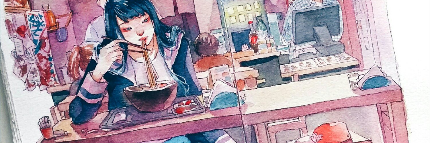 watercolor artist, freelance illustrator loves girls, cute things, cats, anime, drama and kpop ashiyaart.tictail.com