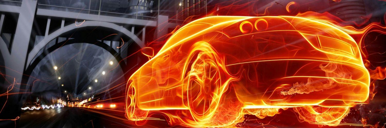 картинки пламя для машины