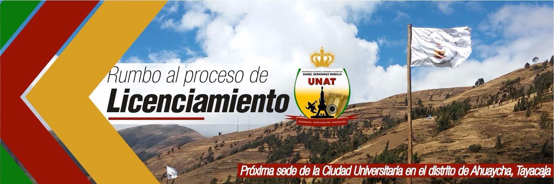 Universidad Nacional Autónoma de Tayacaja's official Twitter account
