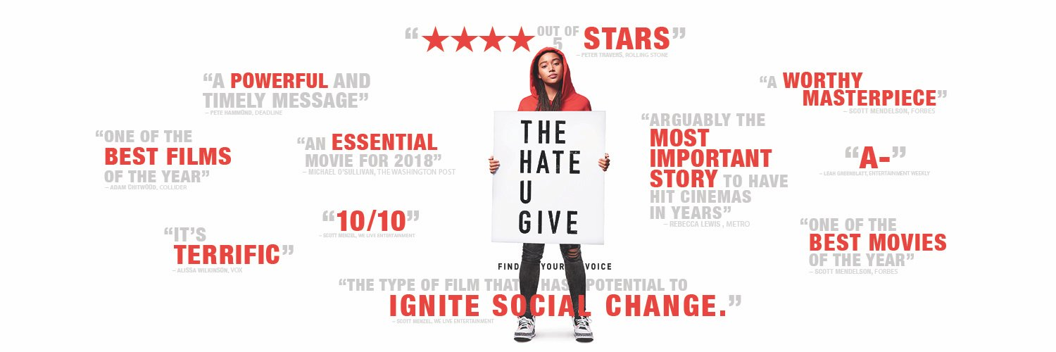 .@KJ_Apa stars in #TheHateUGive, in select theaters now, everywhere Friday. Get tickets now.