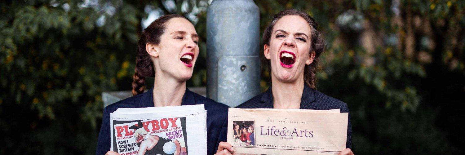 """Stumble Trip Theatre founded by Chloe and Grace who met at Lecoq. """"Impossible not to fall for…"""" - Broadway Baby Nxt Show: FRILLS AND SPILLS."""