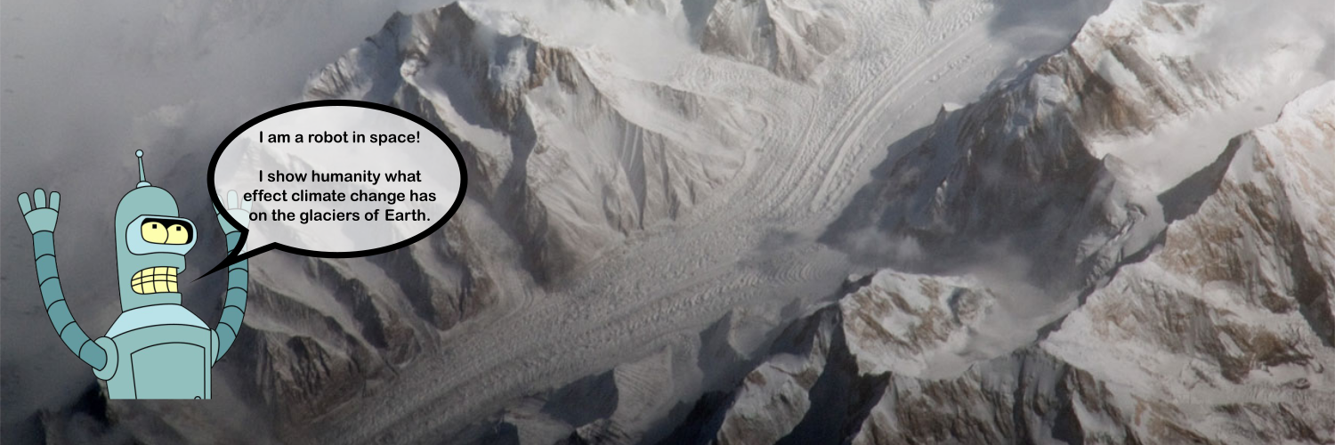 I am a bot. I pick a glacier at random, find 2 images a decade or so apart. I tweet them to highlight the consequences of climate change. Managed by @agrinsted