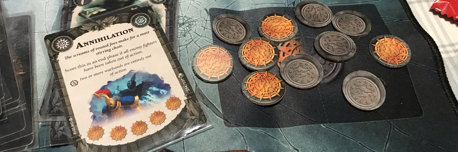 @MikeJShaffer At some point, if the kids don't nab it for a play area first! Needs ripping out and redoing really. For the near future I'll just have to host games in my house instead. That's ok, I'm enjoying smaller games like Shadespire at the moment.