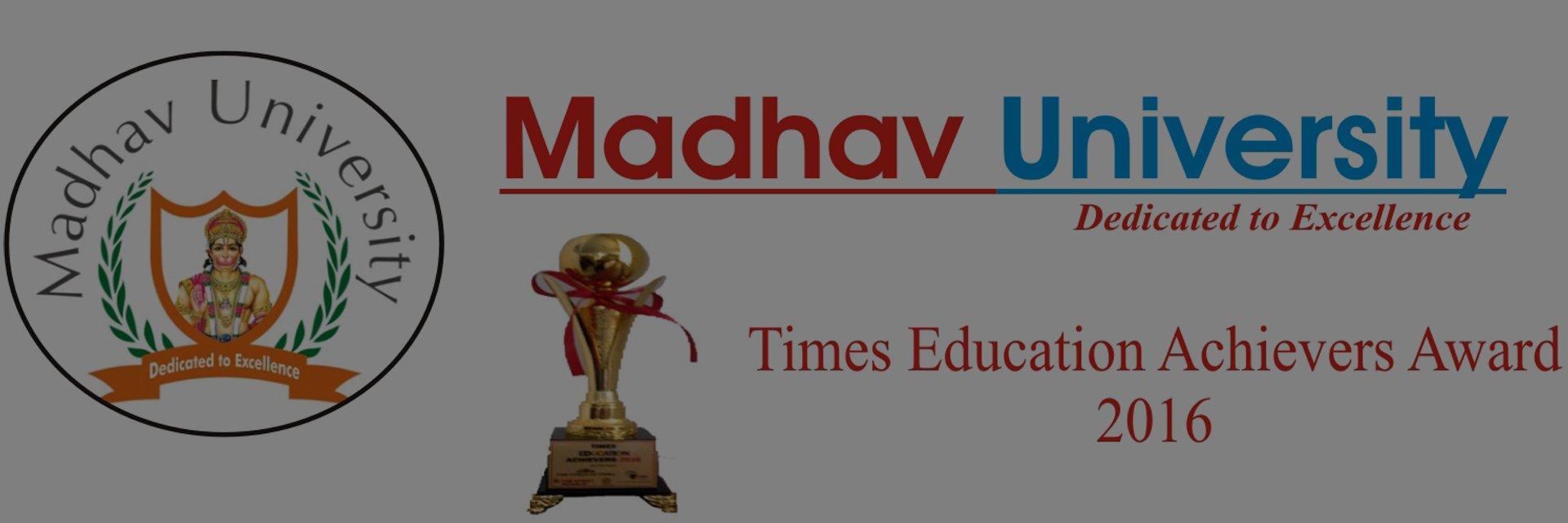 Madhav University's official Twitter account