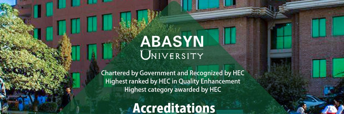 Abasyn University's official Twitter account