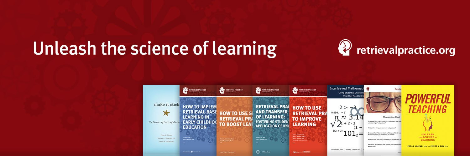 Unleash the science of learning with #PowerfulTeaching and #RetrievalPractice. Founded by cognitive scientist @PoojaAgarwal. retrievalpractice.org