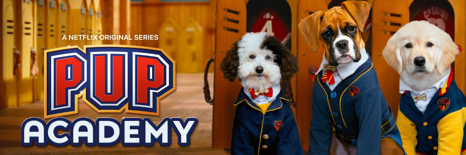 Welcome to Pup Academy! An All-New Series from the creators of @AirBud. Some call it 'Harry Pupper.'