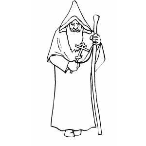 Рисунок монаха в картинках дают