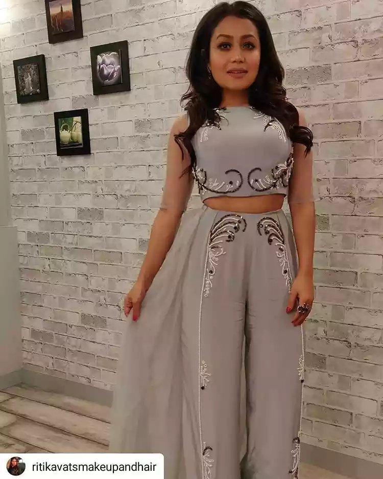 Neha Kakkar Crop Top Kjole Best Price B3a9c 9c783