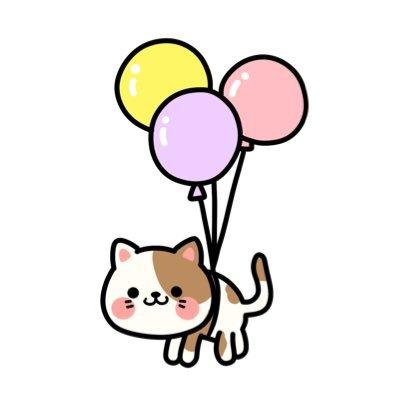 картинки с днем рождения котик с шариками там