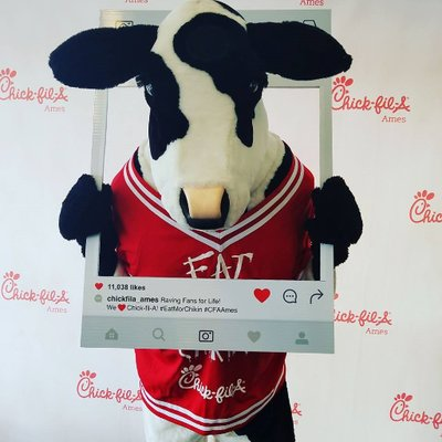 photograph regarding Chick Fil a Printable Cow Costume identify Chick-fil-A Ames (@ChickfilA_Ames) Twitter