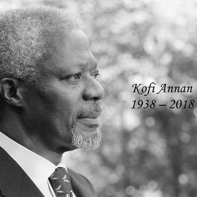 Kofi Annan On Twitter It Is With Immense Sadness That The