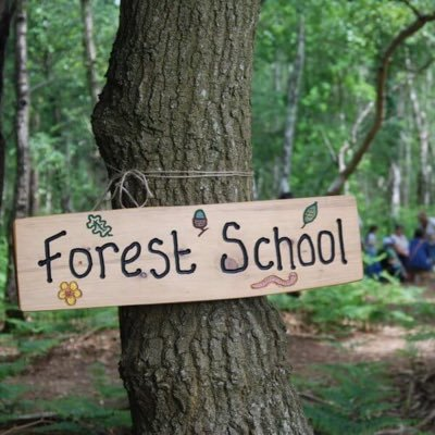 "Mrs R Forest School on Twitter: ""Fun in forest school this week! We put up signs on the bug hotel and served hot chocolate out of the cafe! We have also installed"