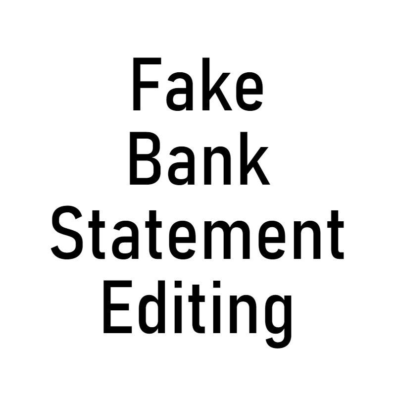 Image result for Fake bank statement