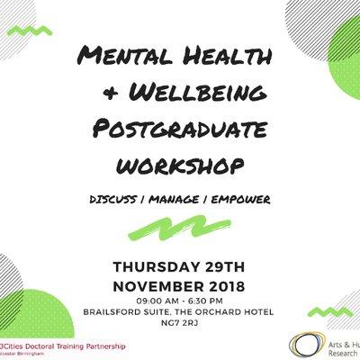 Mental Health & Wellbeing Postgraduate Workshop on Twitter