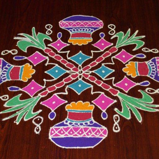 Happy New Year New Rangoli 47