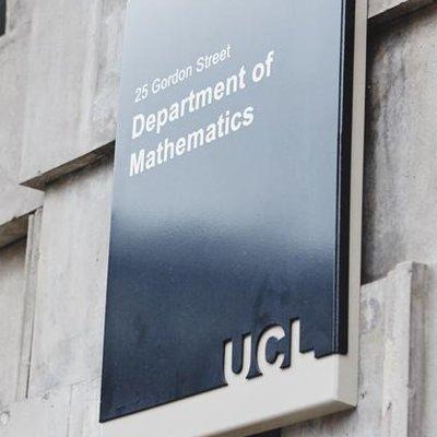 UCL Department of Mathematics (@MathematicsUCL) Twitter profile photo