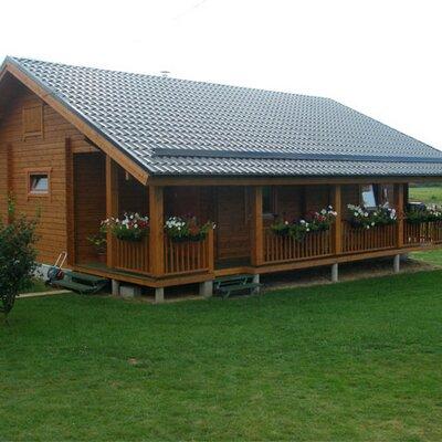 Casas de madera casasdemadera twitter - Casas de madera nordicas ...