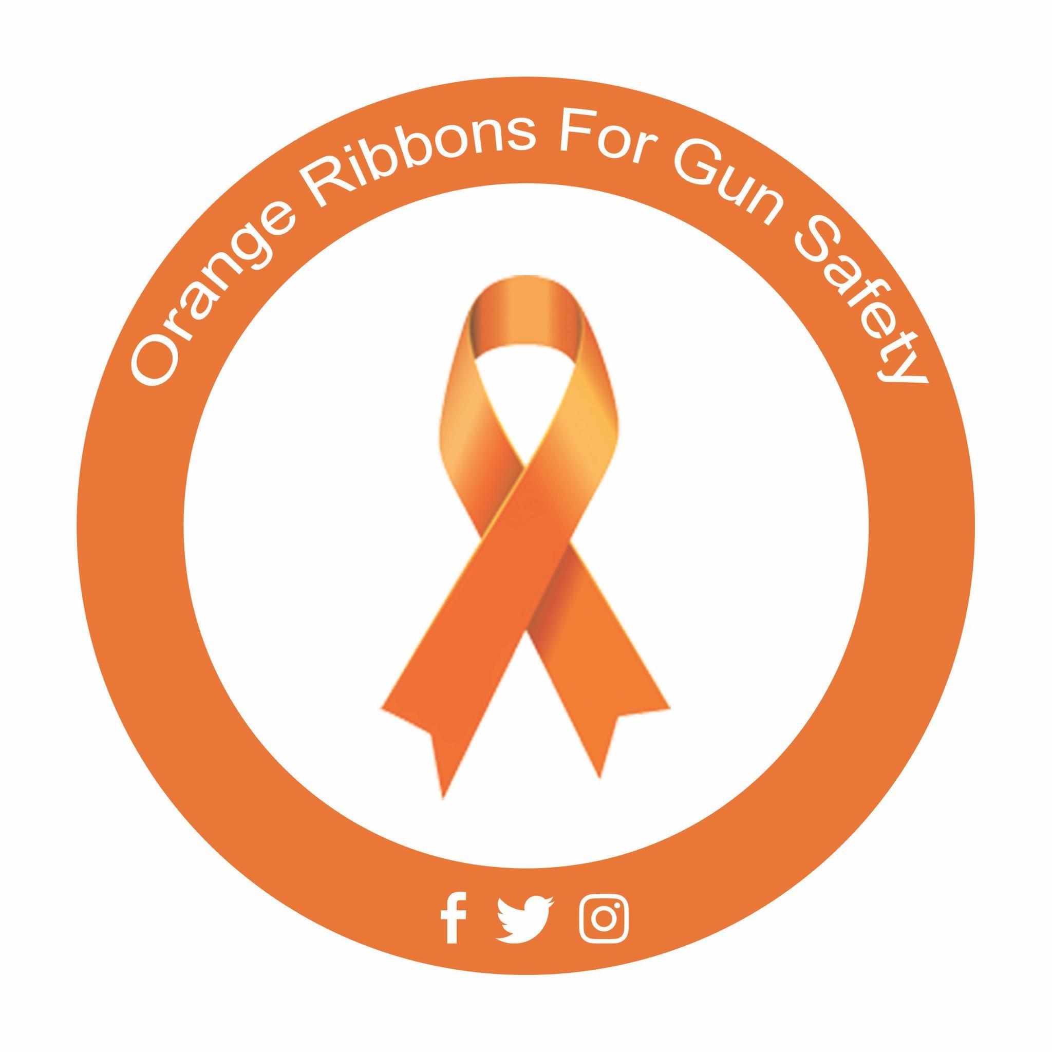 Orange Ribbons For Gun Safety