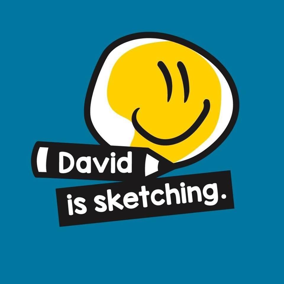 David is sketching