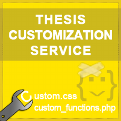 customizing thesis Home thesis writing if you have difficulties with thesis writing, you can always order a custom thesis at writemypapersorg - a professional thesis writing servicealthough some thesis writing services can cause endless problems, writemypapersorg is specially created for enhancing your progress by reducing your workload.
