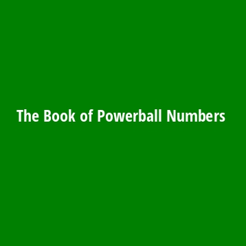 The Book of Powerball Numbers