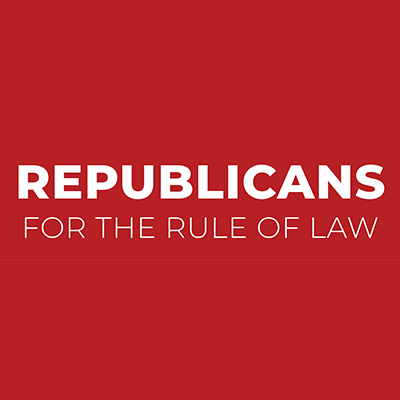 Republicans for the Rule of Law (@ForTheRuleOfLaw) Twitter profile photo