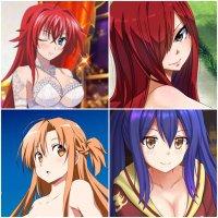 Rias/Erza/Asuna/Wendy