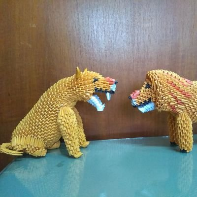 3D orgami Chinese yellow Dragon gifts for kids free shiping|kit ... | 400x400